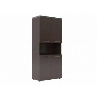 Шкаф с 2-мя комплектами глухих малых дверей и топом
