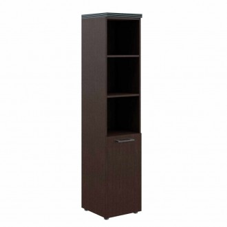Шкаф колонка с глухой малой дверью и топом