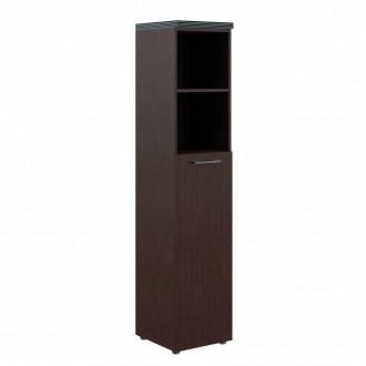 Шкаф колонка с глухой средней дверью и топом