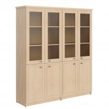 Шкаф высокий 2-х секционный комбинированный