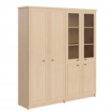 Шкаф высокий 2-х секционный с гардеробом и комбинированным