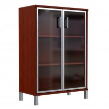 Шкаф средний со стеклянными дверьми в AL рамке