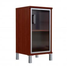 Шкаф колонка низкая со стеклянной дверью в AL рамке