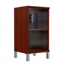 Шкаф колонка низкая со стеклянной дверью