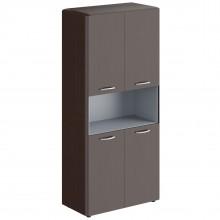 Шкаф с 2-мя комплектами глухих малых дверей