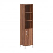 Шкаф колонка высокая с глухой малой дверью