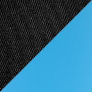 Ткань черная/экокожа голубая