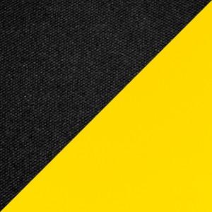 Ткань черная/экокожа желтая